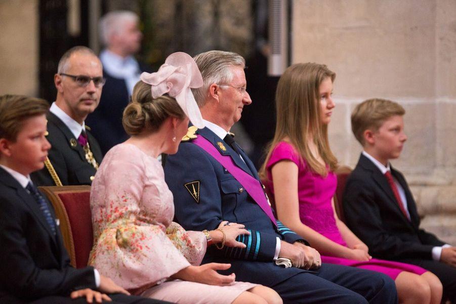 La Famille Royale Belge À La Cathédrale Saints Michel et Gudule De Bruxelles 15