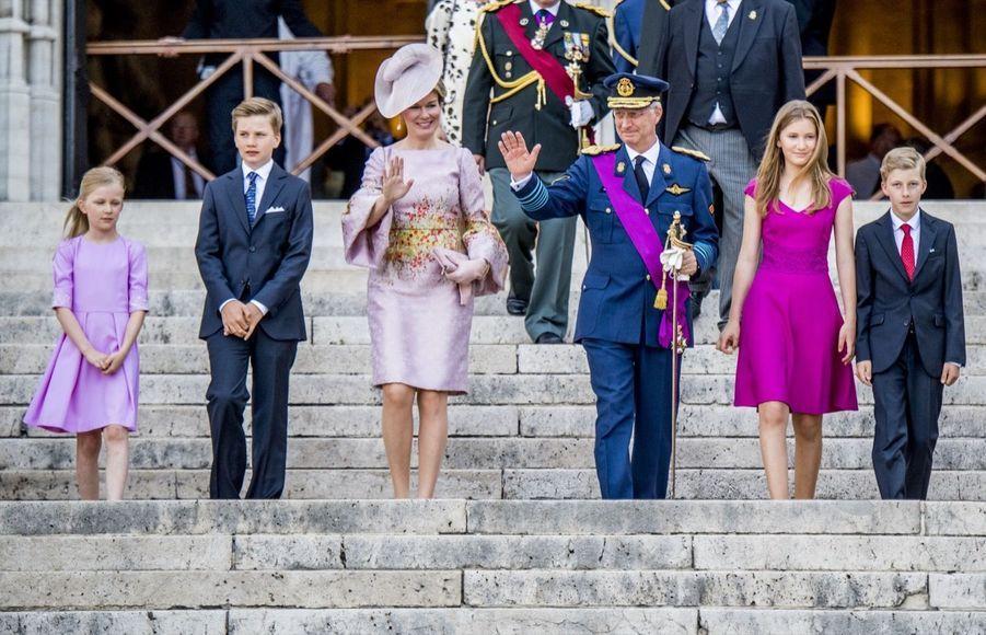 La Famille Royale Belge À La Cathédrale Saints Michel et Gudule De Bruxelles 17