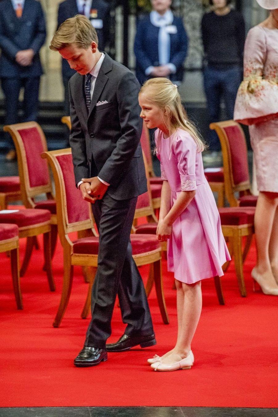 La Famille Royale Belge À La Cathédrale Saints Michel et Gudule De Bruxelles 19