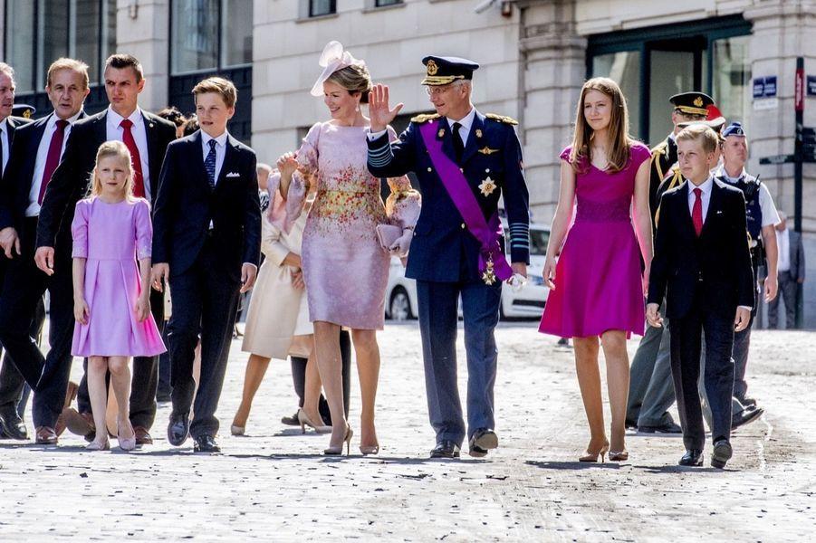 La Famille Royale Belge À La Cathédrale Saints Michel et Gudule De Bruxelles 4