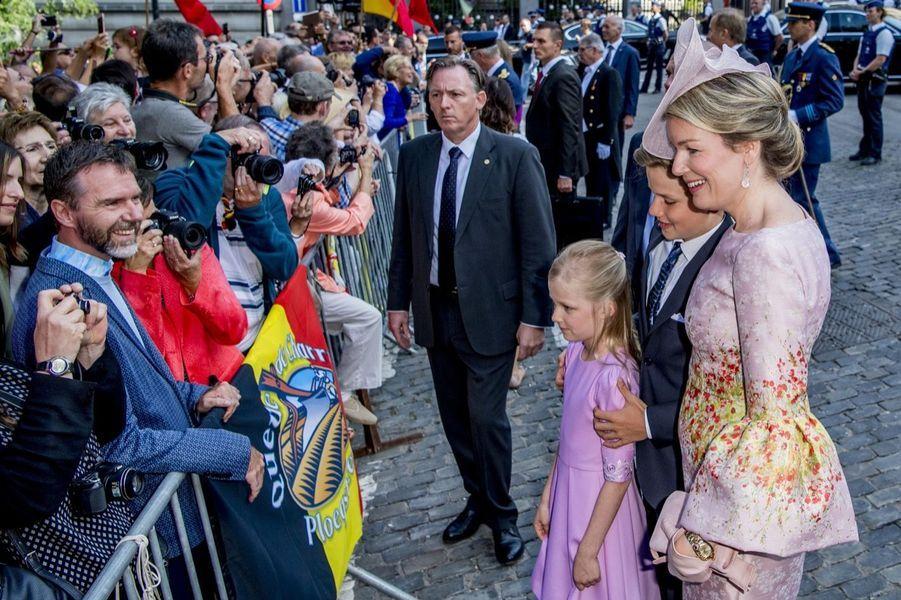 La Famille Royale Belge À La Cathédrale Saints Michel et Gudule De Bruxelles 5