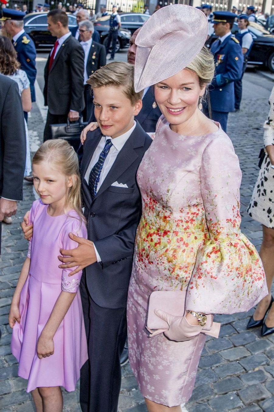 La Famille Royale Belge À La Cathédrale Saints Michel et Gudule De Bruxelles 6