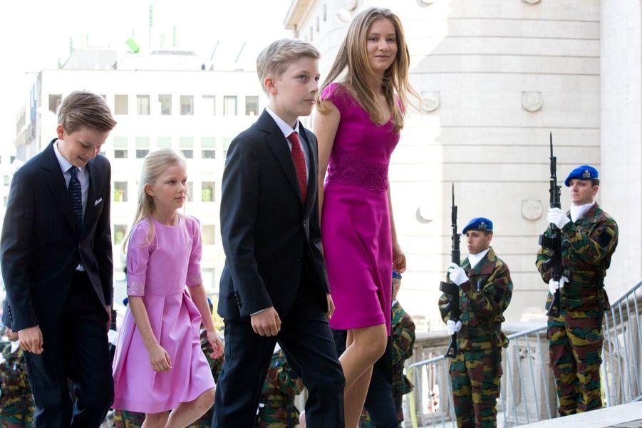 La Famille Royale Belge À La Cathédrale Saints Michel et Gudule De Bruxelles 9