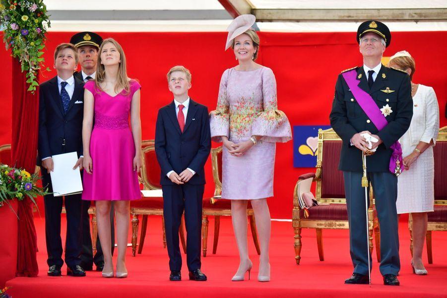 La Famille Royale Belge Au Défilé De La Fête Nationale 10