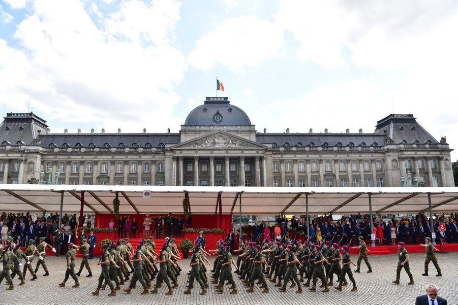 La Famille Royale Belge Au Défilé De La Fête Nationale 11