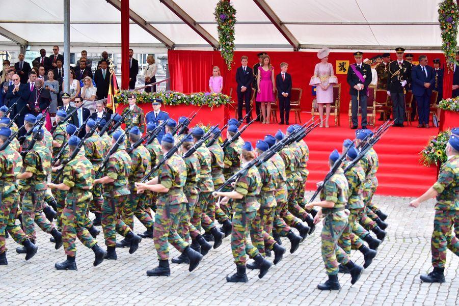 La Famille Royale Belge Au Défilé De La Fête Nationale 12