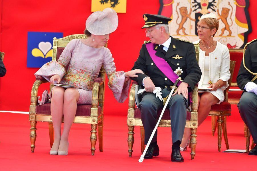 La Famille Royale Belge Au Défilé De La Fête Nationale 13