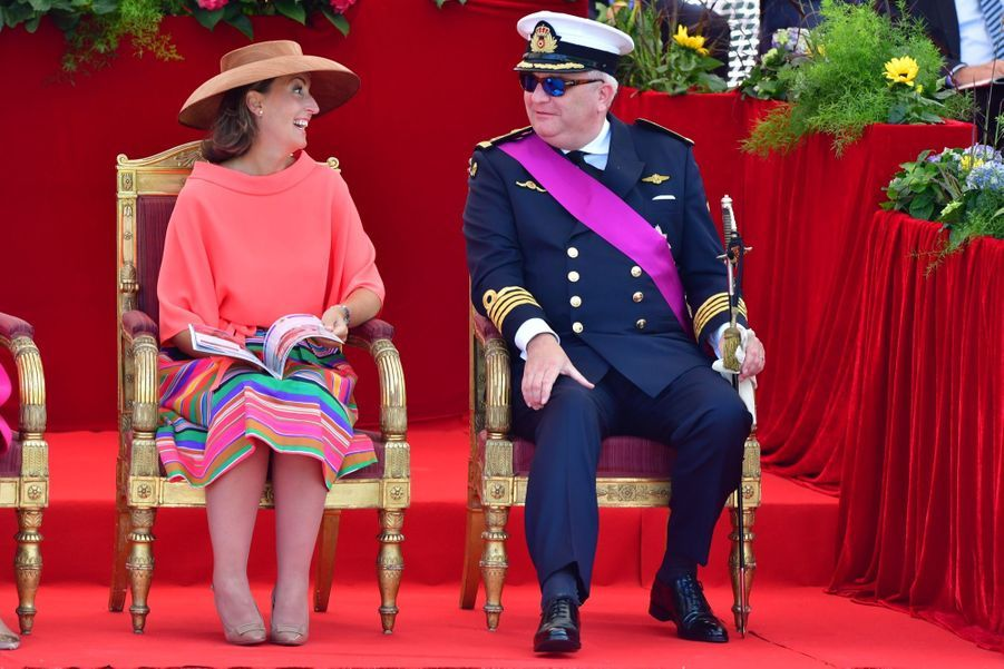 La Famille Royale Belge Au Défilé De La Fête Nationale 16