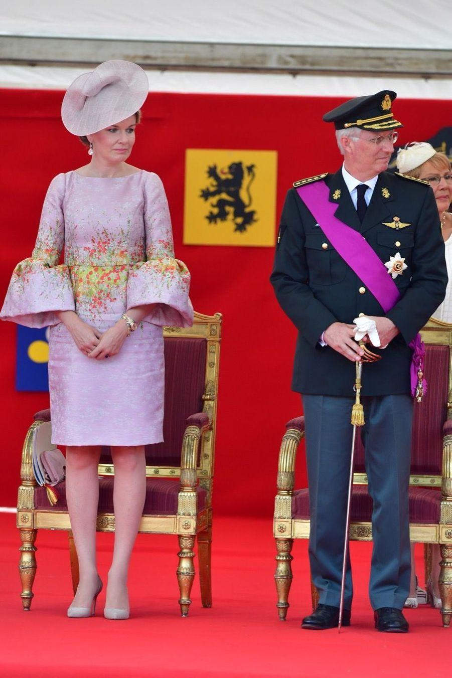 La Famille Royale Belge Au Défilé De La Fête Nationale 17