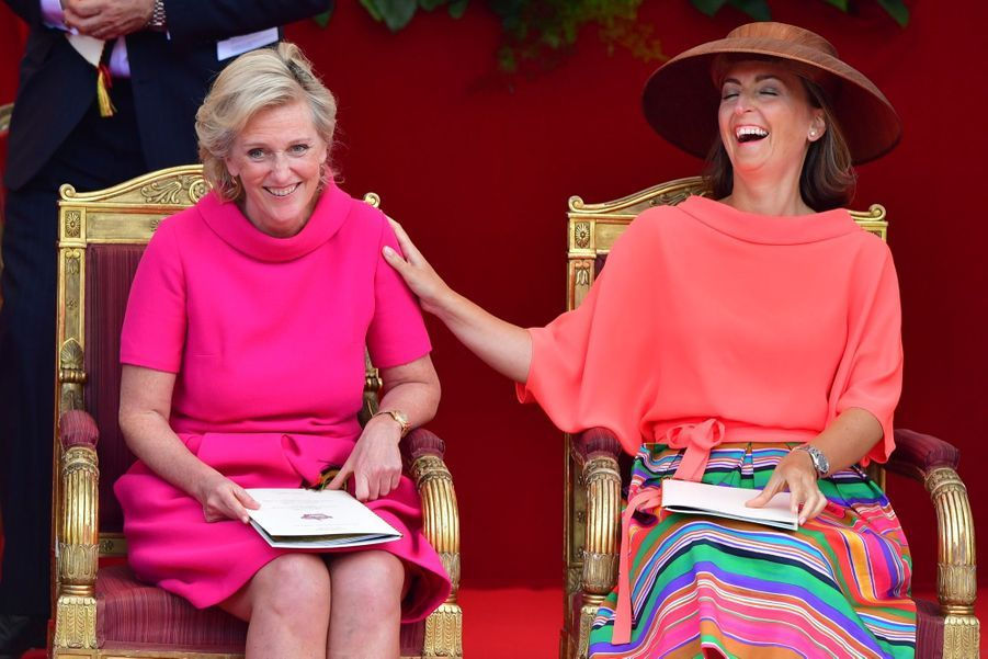 La Famille Royale Belge Au Défilé De La Fête Nationale 2