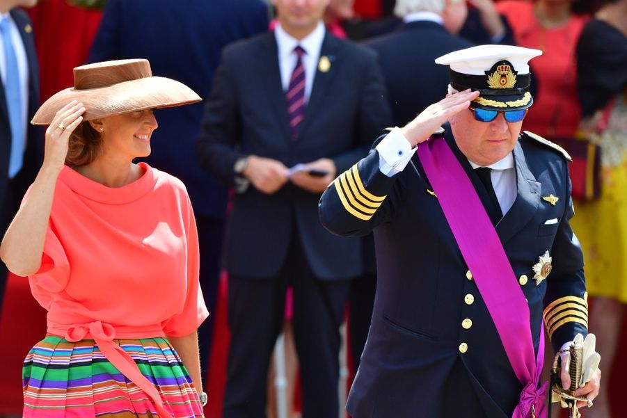 La Famille Royale Belge Au Défilé De La Fête Nationale 4