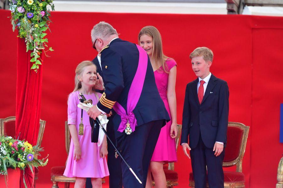 La Famille Royale Belge Au Défilé De La Fête Nationale 6