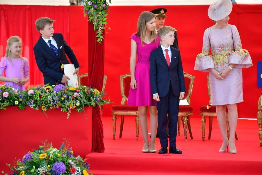 La Famille Royale Belge Au Défilé De La Fête Nationale 9