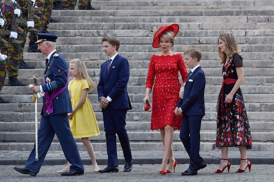 La Famille Royale Belge À La Cathédrale Saints Michel et Gudule De Bruxelles ( 11