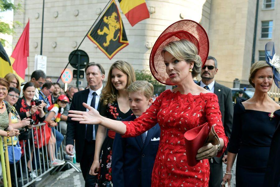 La Famille Royale Belge À La Cathédrale Saints Michel et Gudule De Bruxelles ( 19