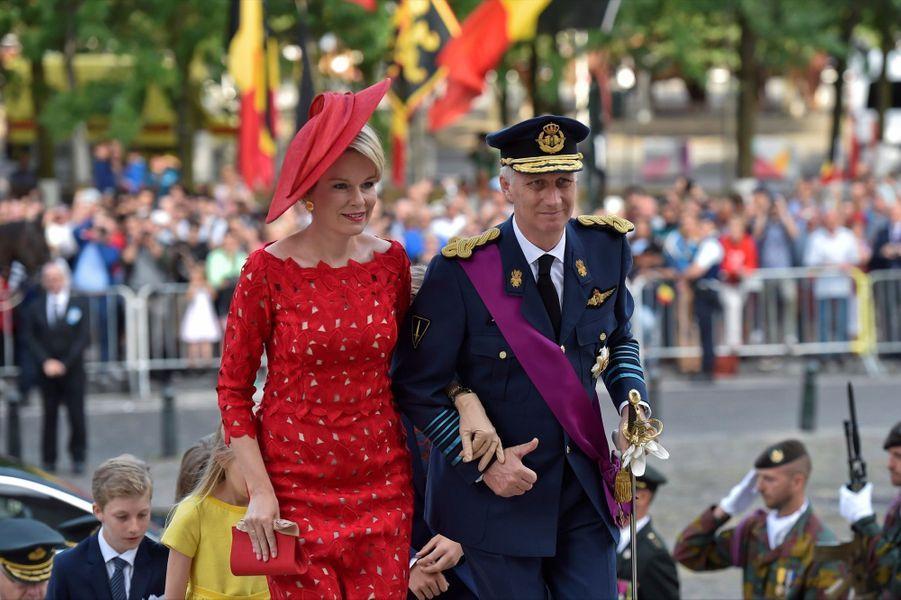 La Famille Royale Belge À La Cathédrale Saints Michel et Gudule De Bruxelles ( 2