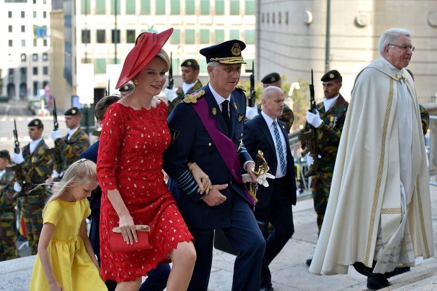 La Famille Royale Belge À La Cathédrale Saints Michel et Gudule De Bruxelles ( 3