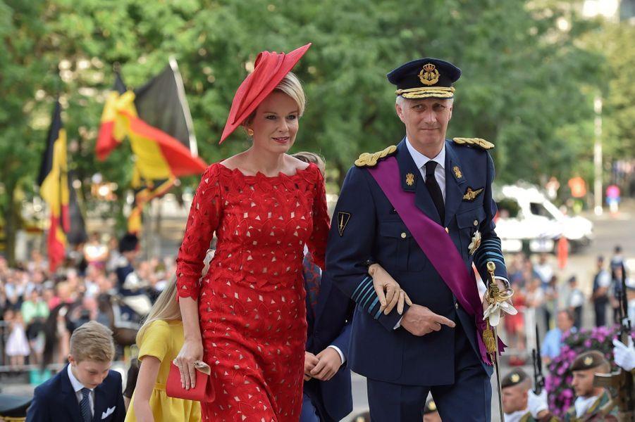 La Famille Royale Belge À La Cathédrale Saints Michel et Gudule De Bruxelles ( 5