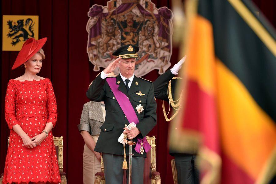 La Famille Royale Belge Au Défilé De La Fête Nationale ( 10