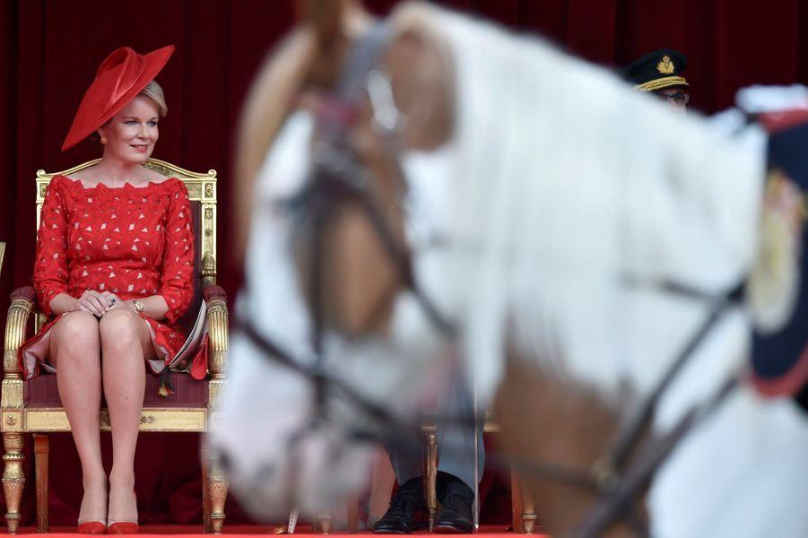 La Famille Royale Belge Au Défilé De La Fête Nationale ( 11