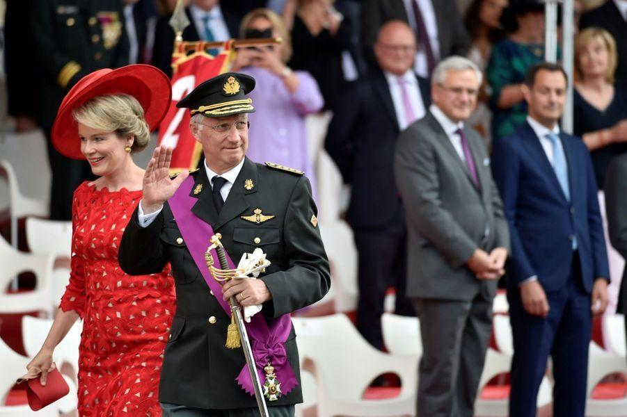 La Famille Royale Belge Au Défilé De La Fête Nationale ( 15