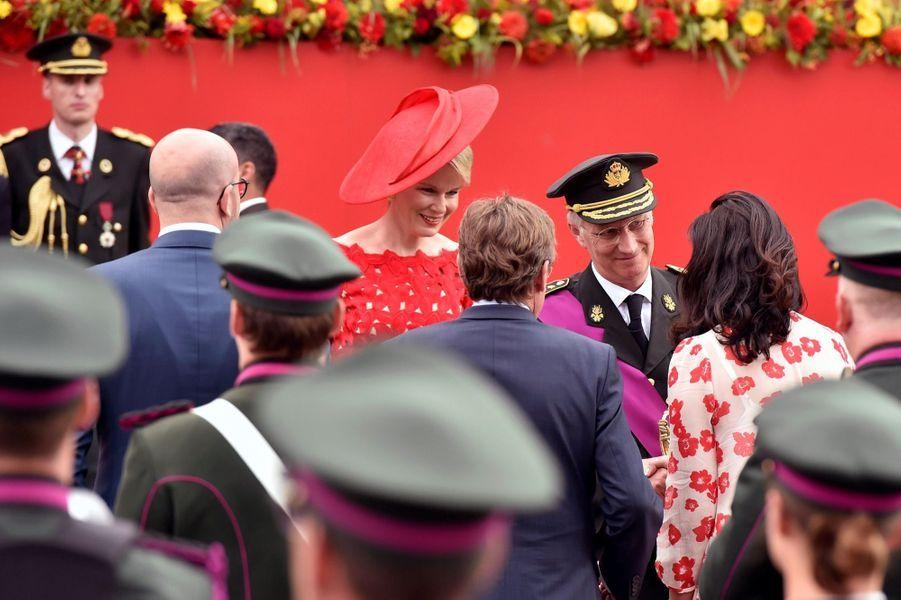 La Famille Royale Belge Au Défilé De La Fête Nationale ( 2