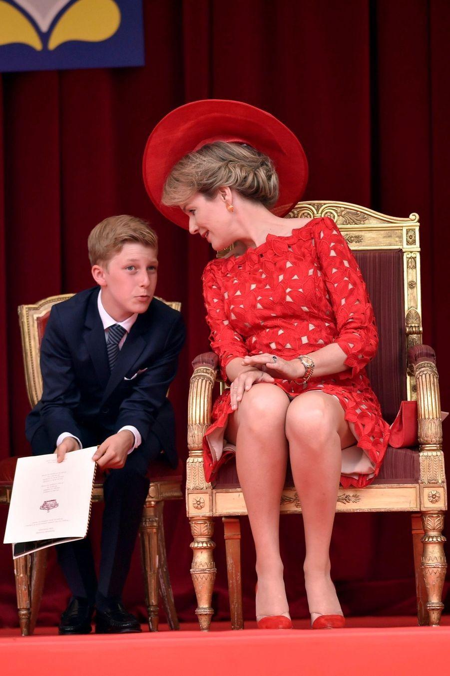 La Famille Royale Belge Au Défilé De La Fête Nationale ( 3