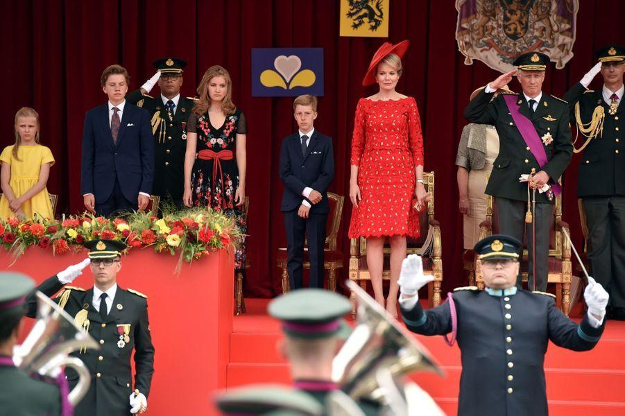 La Famille Royale Belge Au Défilé De La Fête Nationale ( 4