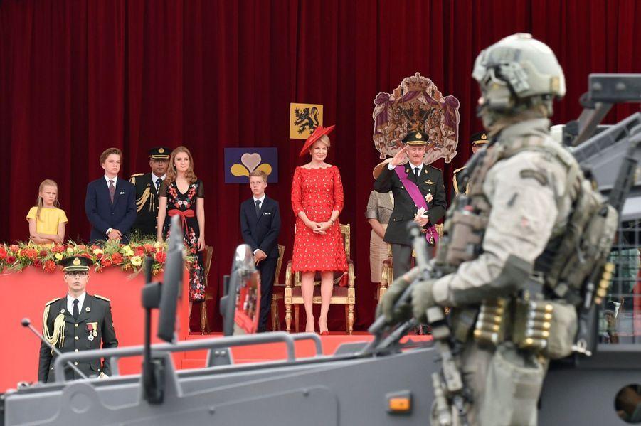 La Famille Royale Belge Au Défilé De La Fête Nationale ( 5