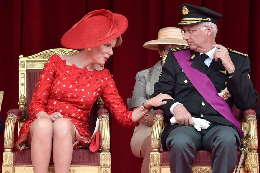 La Famille Royale Belge Au Défilé De La Fête Nationale ( 7