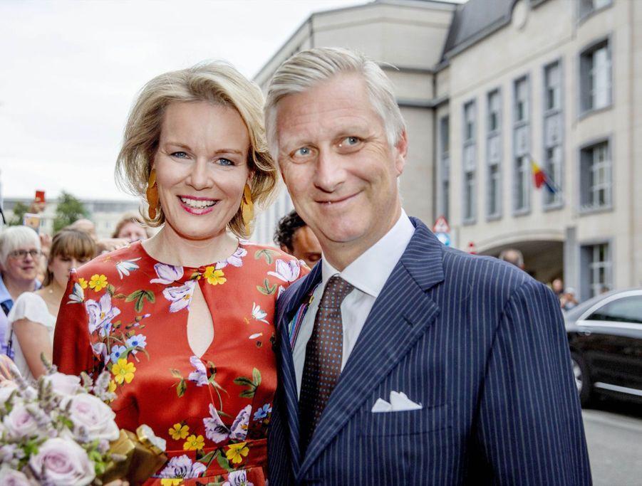 Le Roi Et La Reine Des Belges Au Concert En Prélude À La Fête Nationale ( 4