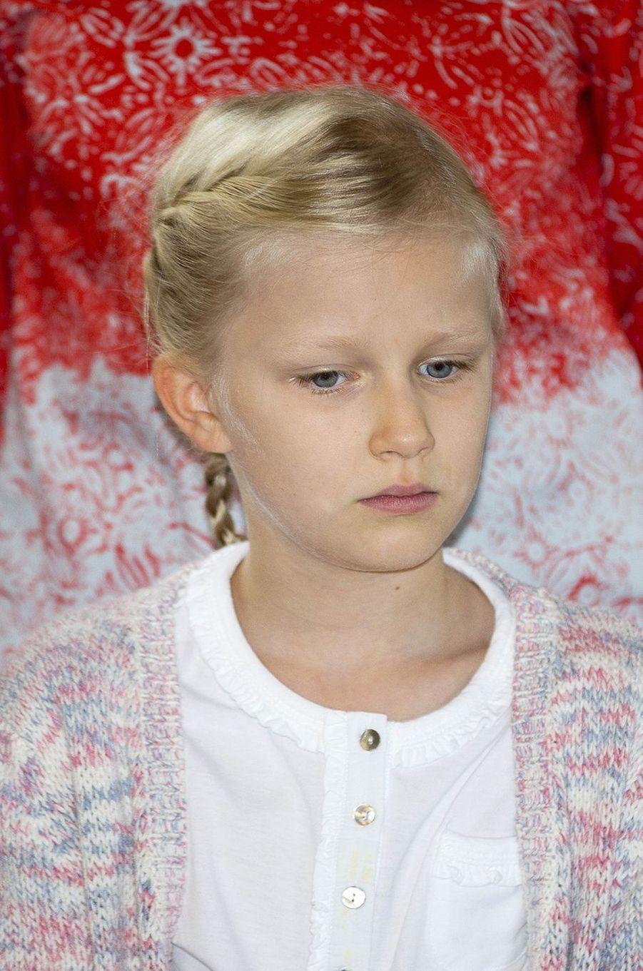 La princesse Eléonore de Belgique à Bruxelles, le 18 septembre 2016