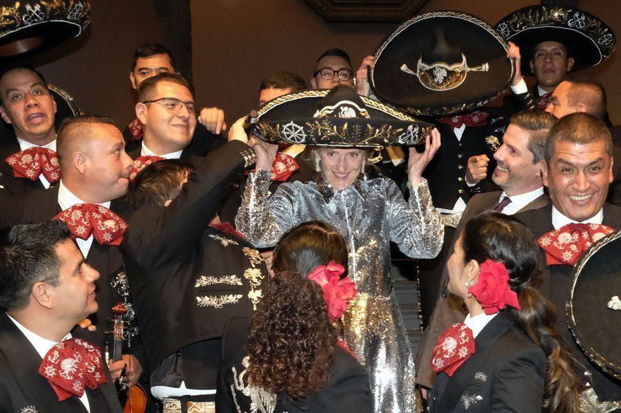 La princesse Astrid de Belgique à Mexico, le 19 février 2019