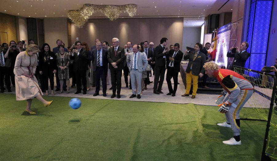 La princesse Astrid de Belgique à Mexico, le 18 février 2019