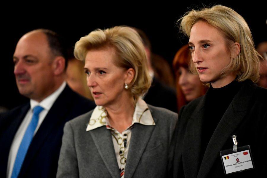 La princesse Astrid de Belgique avec sa fille la princesse Maria Laura à Pékin, le 17 novembre 2019