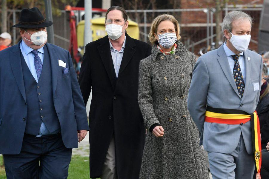 La princesse Delphine de Saxe-Cobourg à Saint-Nicolas (Sint-Niklaas), le 17 octobre 2020