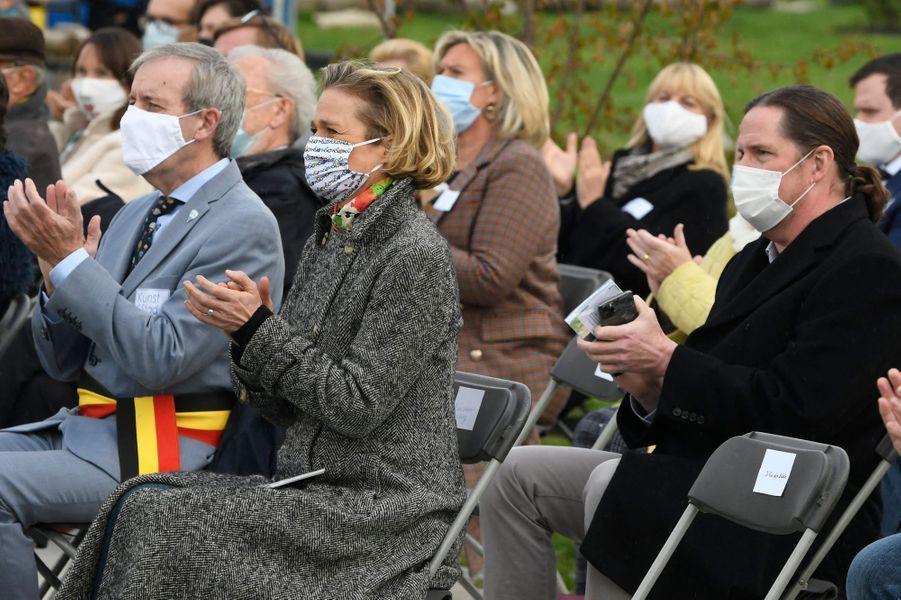 La princesse Delphine de Saxe-Cobourg à Sint-Niklaas (Saint-Nicolas), le 17 octobre 2020