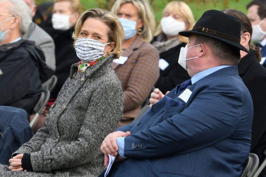 La princesse Delphine de Belgique à Saint-Nicolas (Sint-Niklaas), le 17 octobre 2020