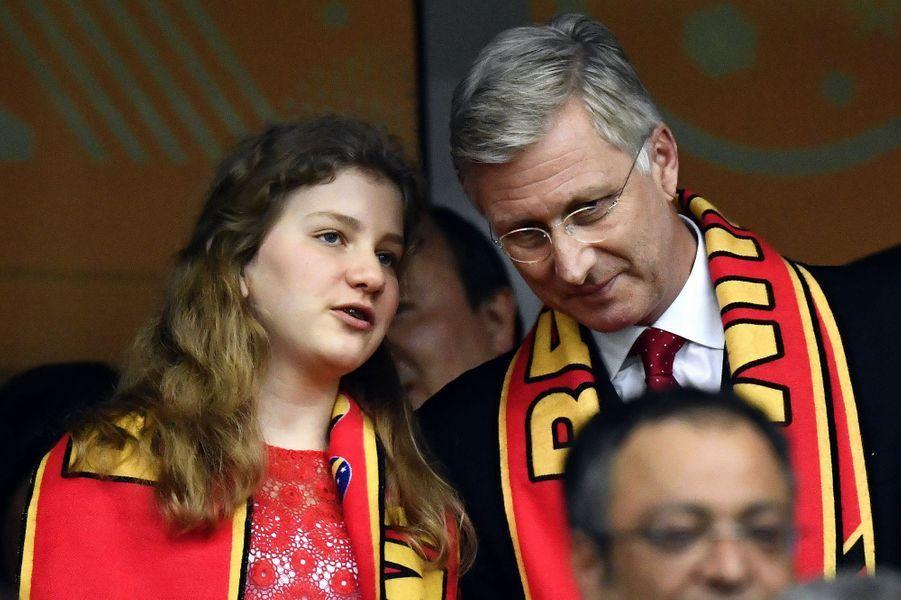 La princesse Elisabeth et le roi Philippe de Belgique à Lille, le 1er juillet 2016