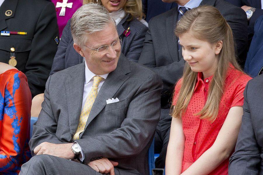 La princesse Elisabeth et le roi Philippe de Belgique à Tongres, le 1er juillet 2016