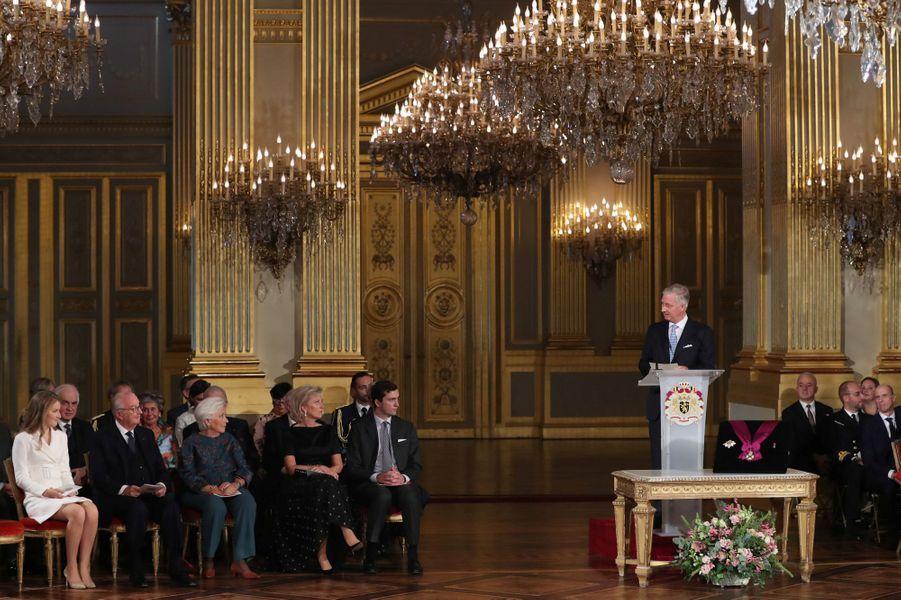 La princesse Elisabeth de Belgique lors de la cérémonie de ses 18 ans à Bruxelles, le 25 octobre 2019
