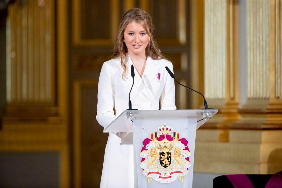 La princesse Elisabeth de Belgique à Bruxelles, le 25 octobre 2019