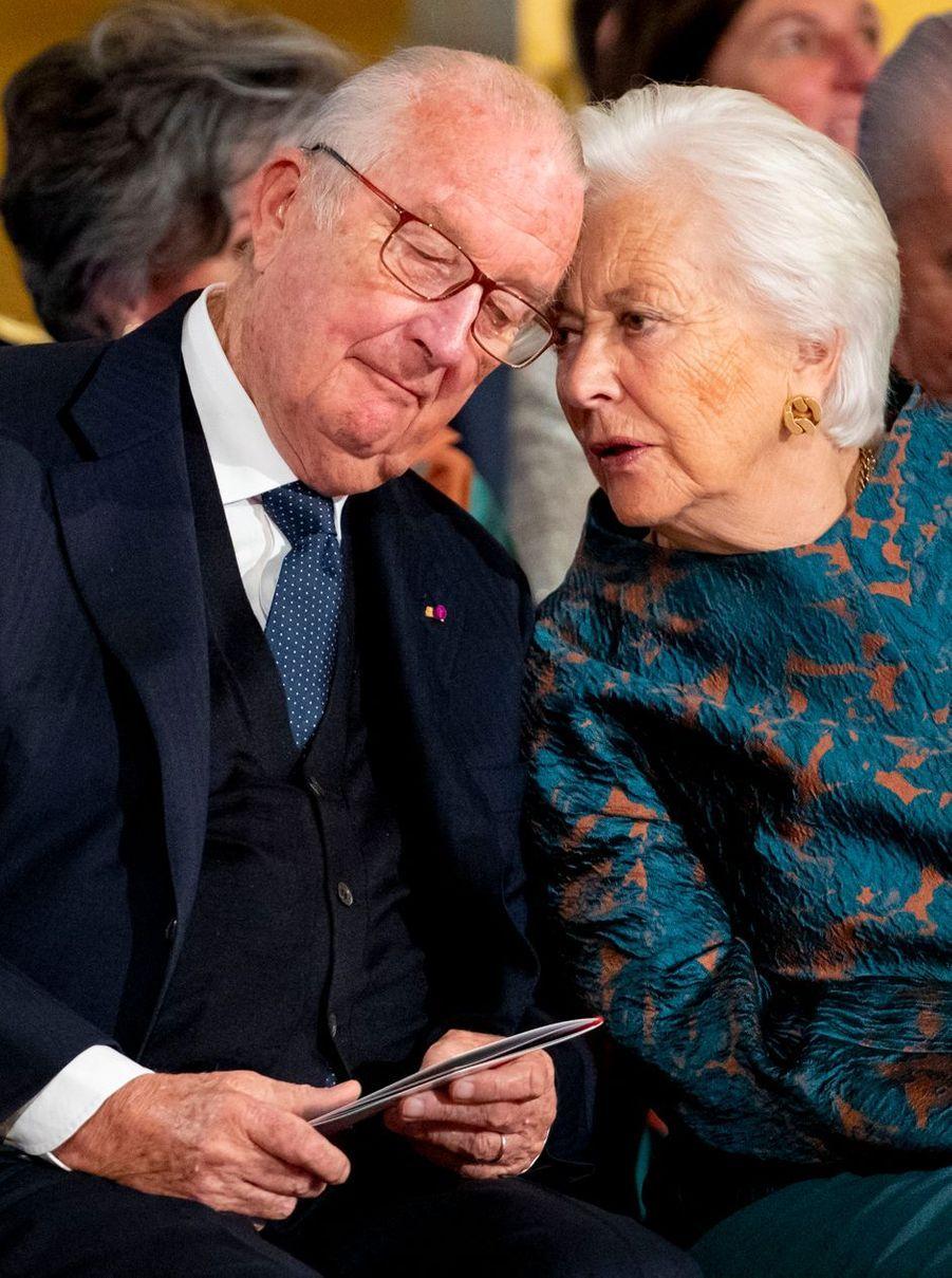 L'ex-roi des Belges Albert II et l'ex-reine Paola à Bruxelles, le 25 octobre 2019
