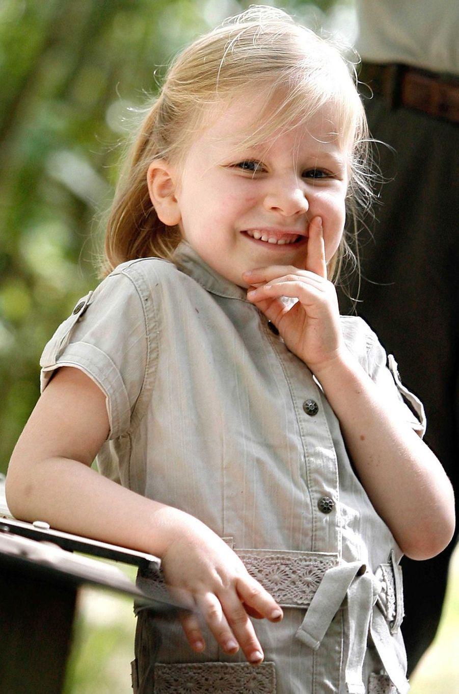 La princesse Elisabeth de Belgique, le 16 juillet 2007