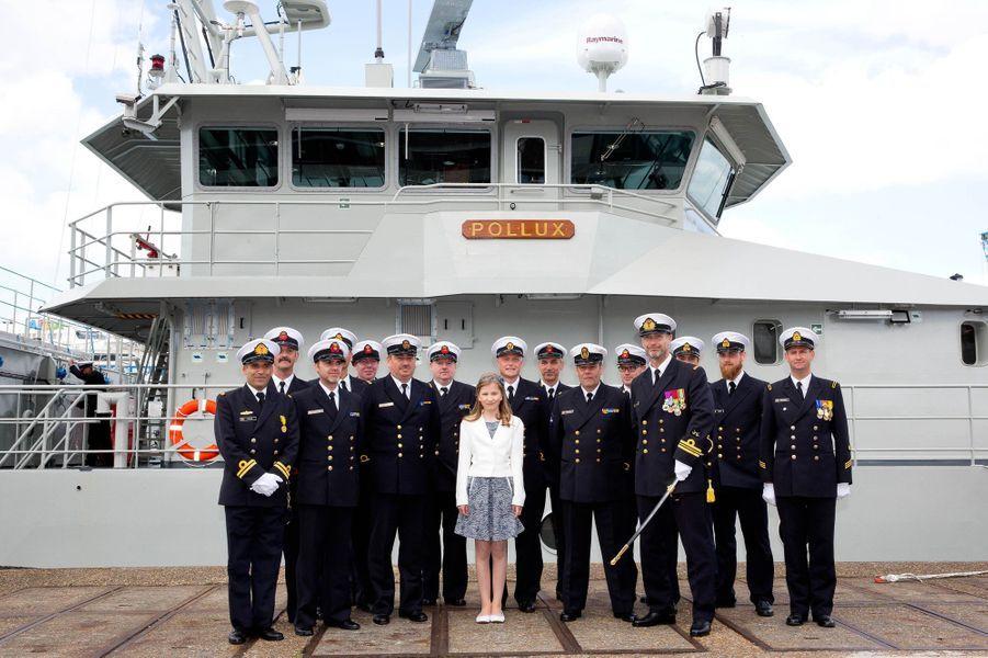 La princesse Elisabeth de Belgique baptise son premier bateau, le 6 mai 2015