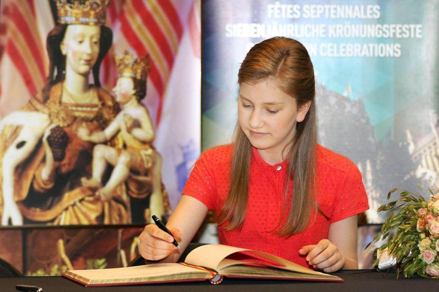 La princesse Elisabeth de Belgique, le 3 juillet 2016