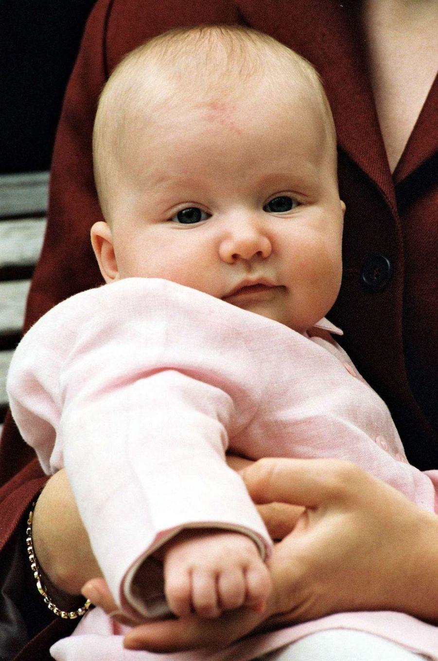 La princesse Elisabeth de Belgique, le 14 avril 2002