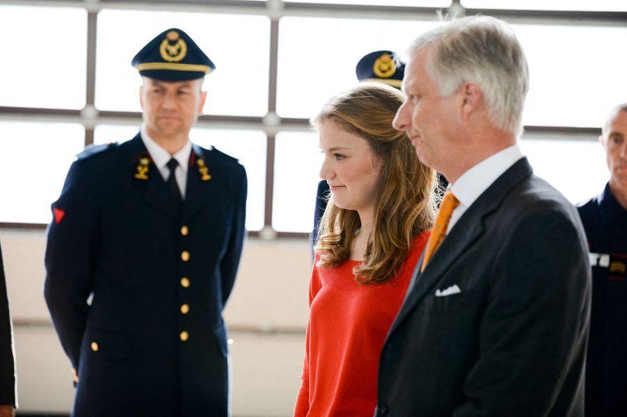 La princesse Elisabeth de Belgique et le roi des Belges Philippe à Bruxelles, le 26 avril 2019