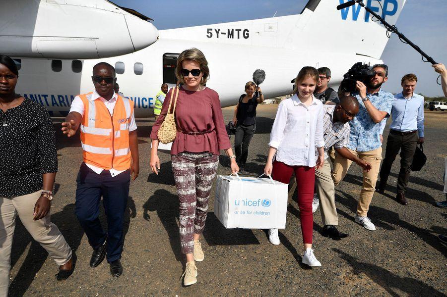La reine des Belges Mathilde et sa fille aînée la princesse Elisabeth de Belgique au Kenya, le 25 juin 2019