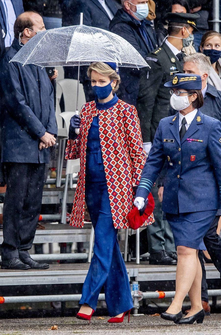 La reine des Belges Mathilde à Bruxelles, le 25 septembre 2020